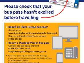 Make sure you have renewed your bus pass!