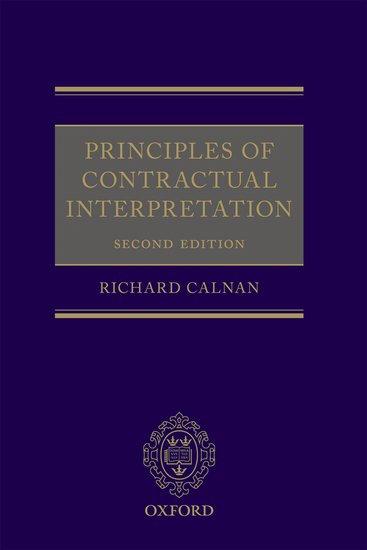 Principles of Contractual Interpretation Second Edition