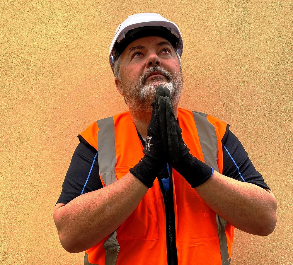 Builder praying for better things to happen