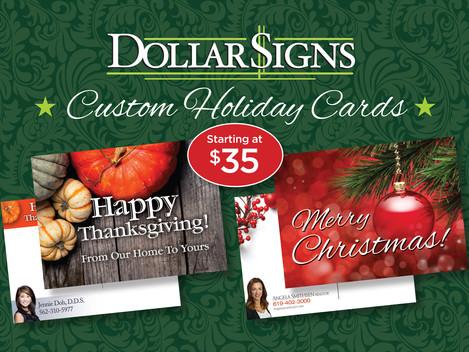 Custom Holiday Postcards Starting at $35