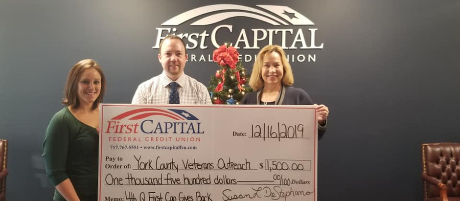 First Capital Federal Credit Union Gives Back