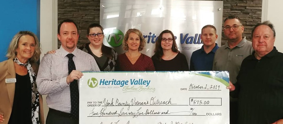 Heritage Valley FCU Donation