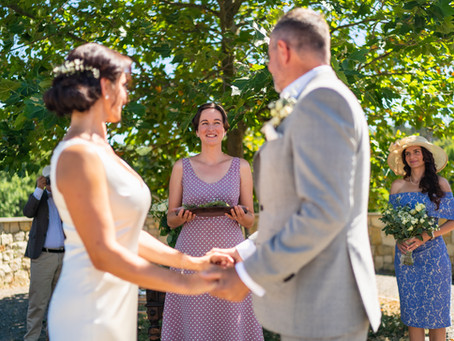 Svatba tak trochu jinak. Obřad Jany a Daniela.