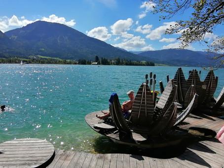 Alpská jezera jsou průzračná jako moře! A dá se v nich i plavat když jste trochu otužilí:-)