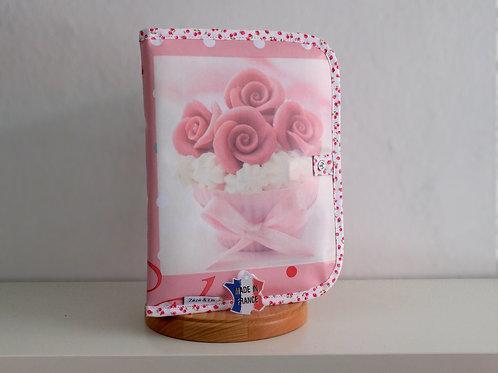 Protège carnet de santé cupcake - Made in France