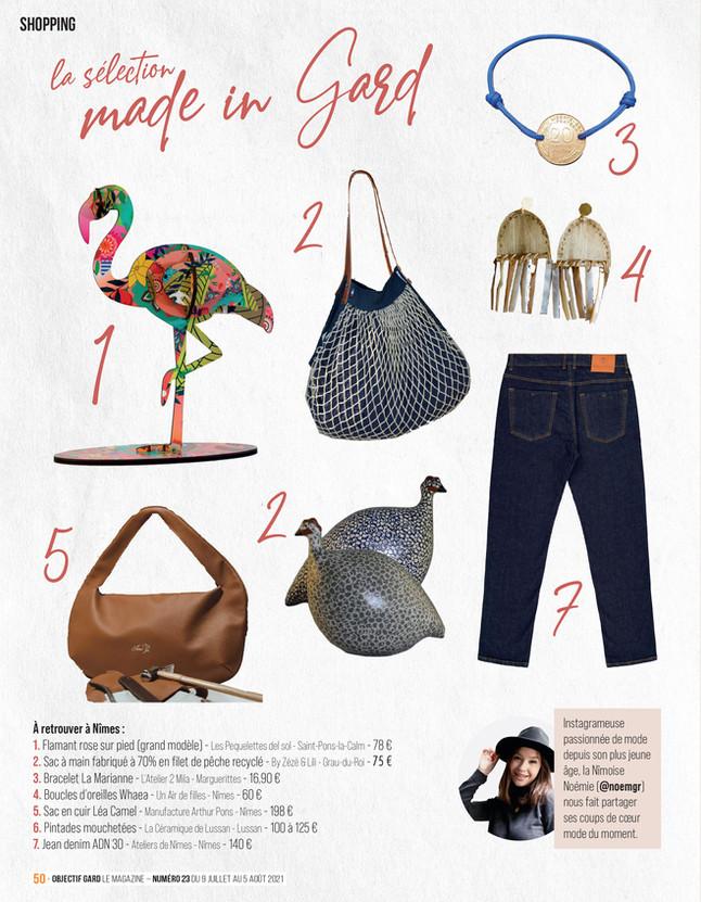 Parution rubrique shopping dans objectif gard le mag #23