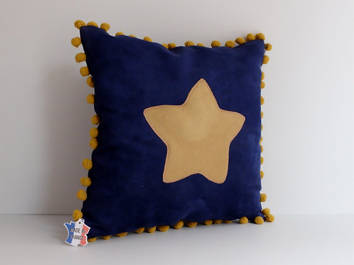Coussin étoile 35x35cm - Made in France