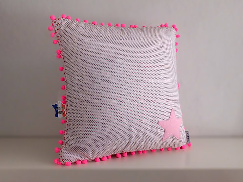 Coussin à pois étoile - Made in France