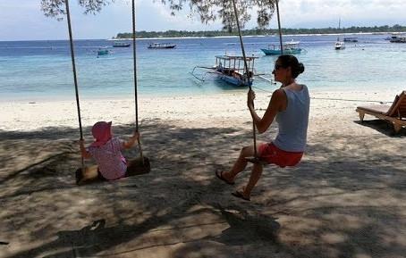 Indonésie, ostrov Gili Air (4. týden)