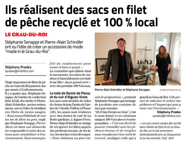 Article Midi Libre - LUNDI 14 JUIN 2021
