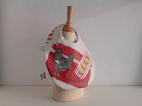 Petit bavoir rouge coq - Made in France