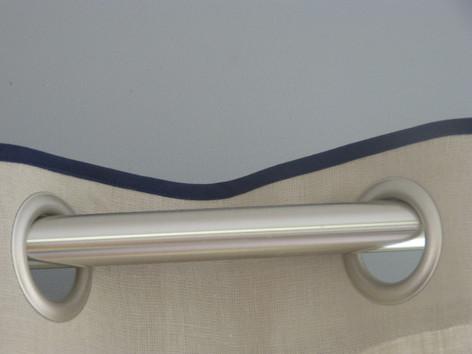 Rideaux en lin style Caravane by Zézé&Lili atelier de couture sur le Grau du roi