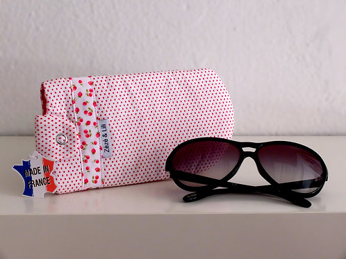 Protège lunettes à pois - Made in France