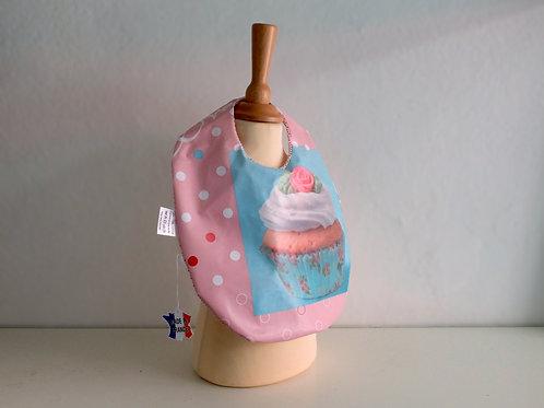 Petit bavoir cupcake - Made in France