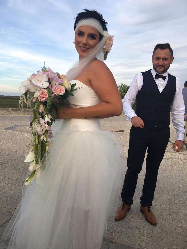 A l'atelier de Zézé & Lili ... création robe de mariée en tulle
