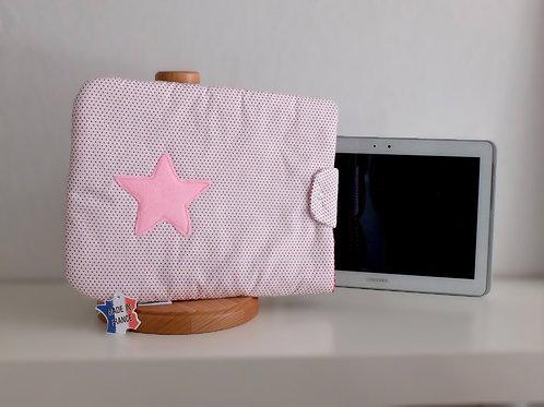 Protège tablette à pois - Made in France