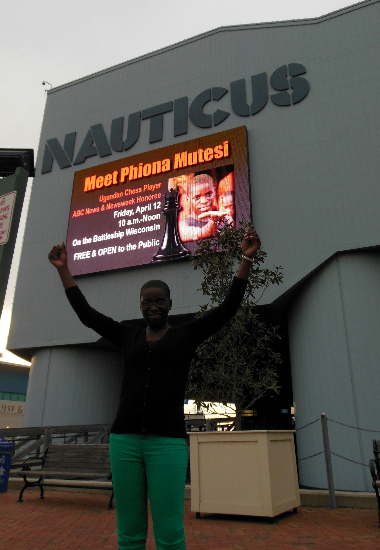 Phiona Mutesi visits NICE!