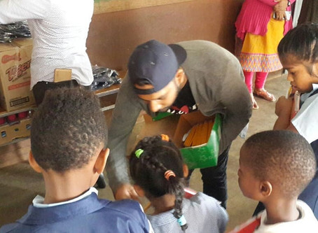 Distribution of Gift at Riche En Eau Primary School
