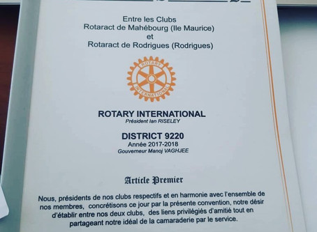 Twining with Rotaract Club Rodrigues