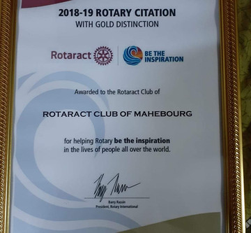 Rotary Citation 2018-2019