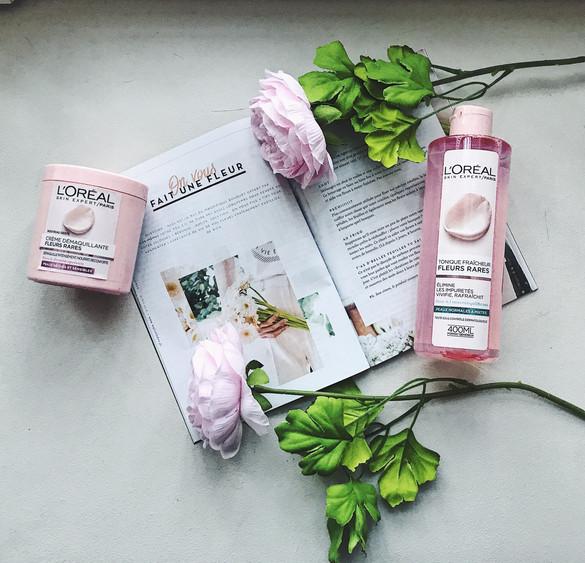 Test de la crème démaquillante aux fleurs rares de chez L'Oréal Skin.