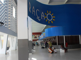 ARRIVALS HALL AT CURAÇAO INTERNATIONAL AIRPORT OPEN