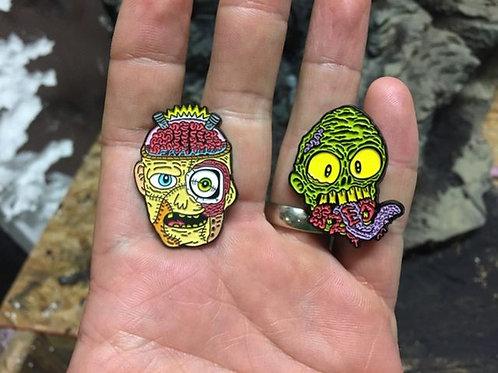 Frank & Zed Enamel Pins!
