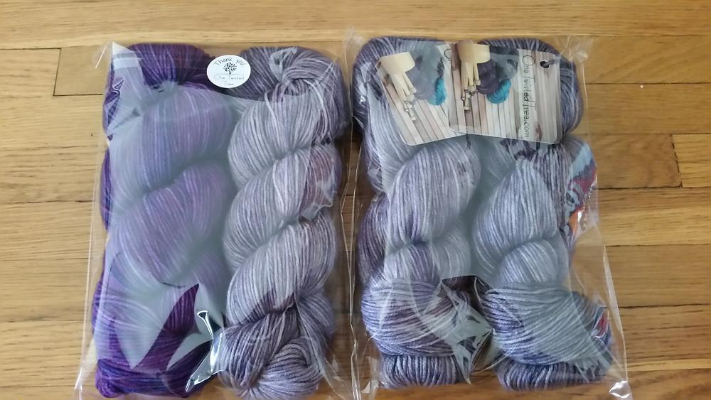 4 skeins of yarn (still in packaging) from One Twistd Tree