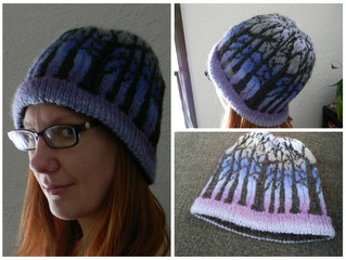 Finished Object: Frostfangs Hat in Knit Picks Chroma (Midwinter)