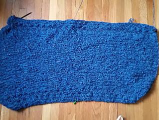 WIP Wednesday: Giant Blue Wrap of Fuzziness