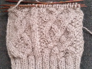 WIP Wednesday: Worsted Weight Hats on Big Needles are So Gratifying