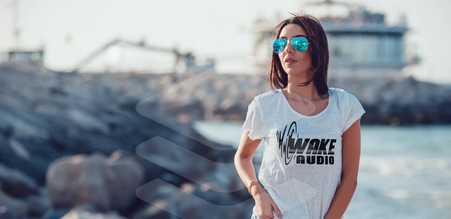 wake audio womens shirt