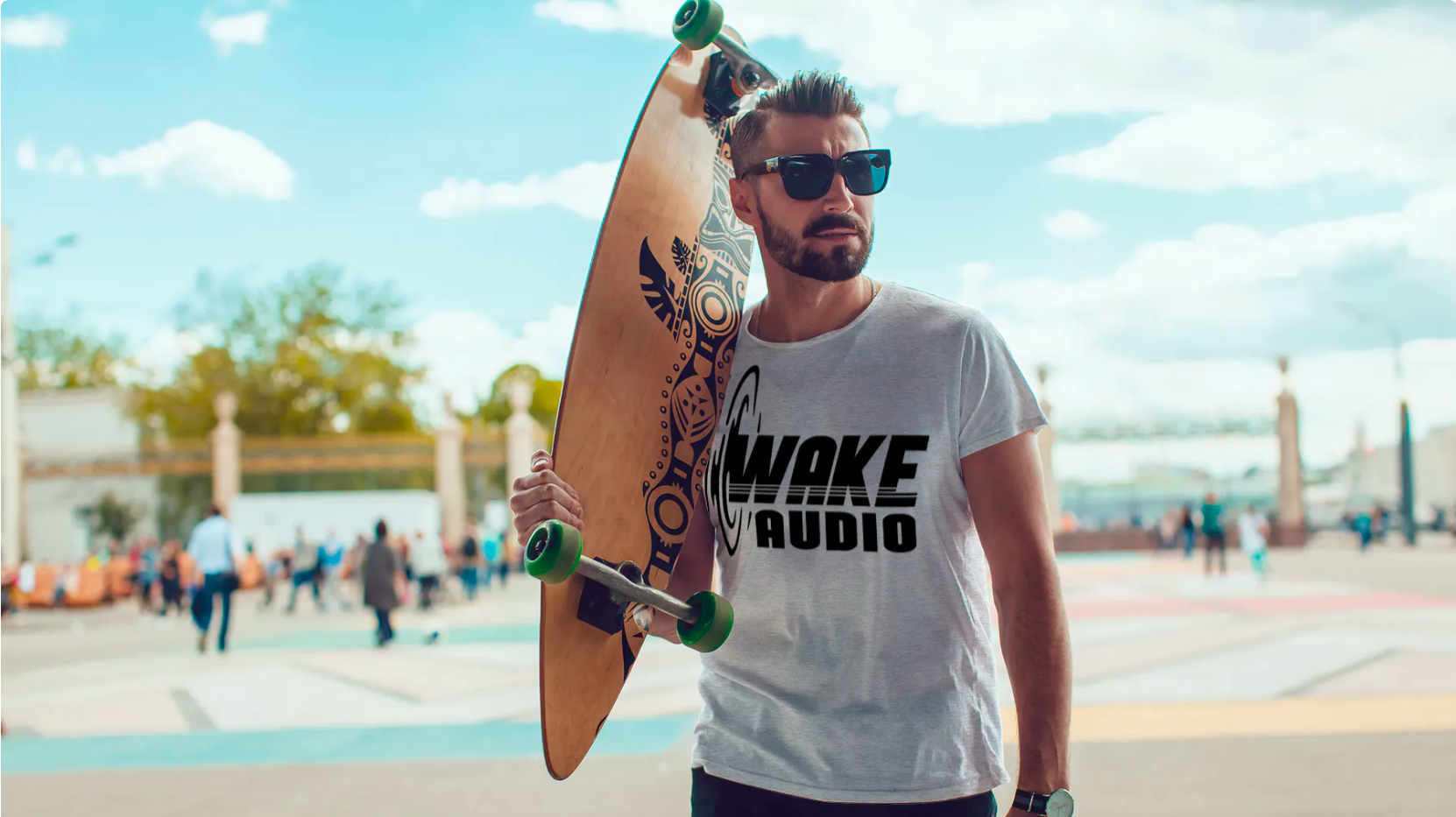 wake audio mens shirt