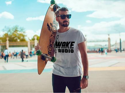 wake audio mens shirt