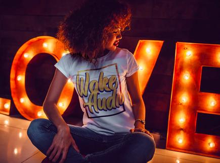 wake audio womens shirt
