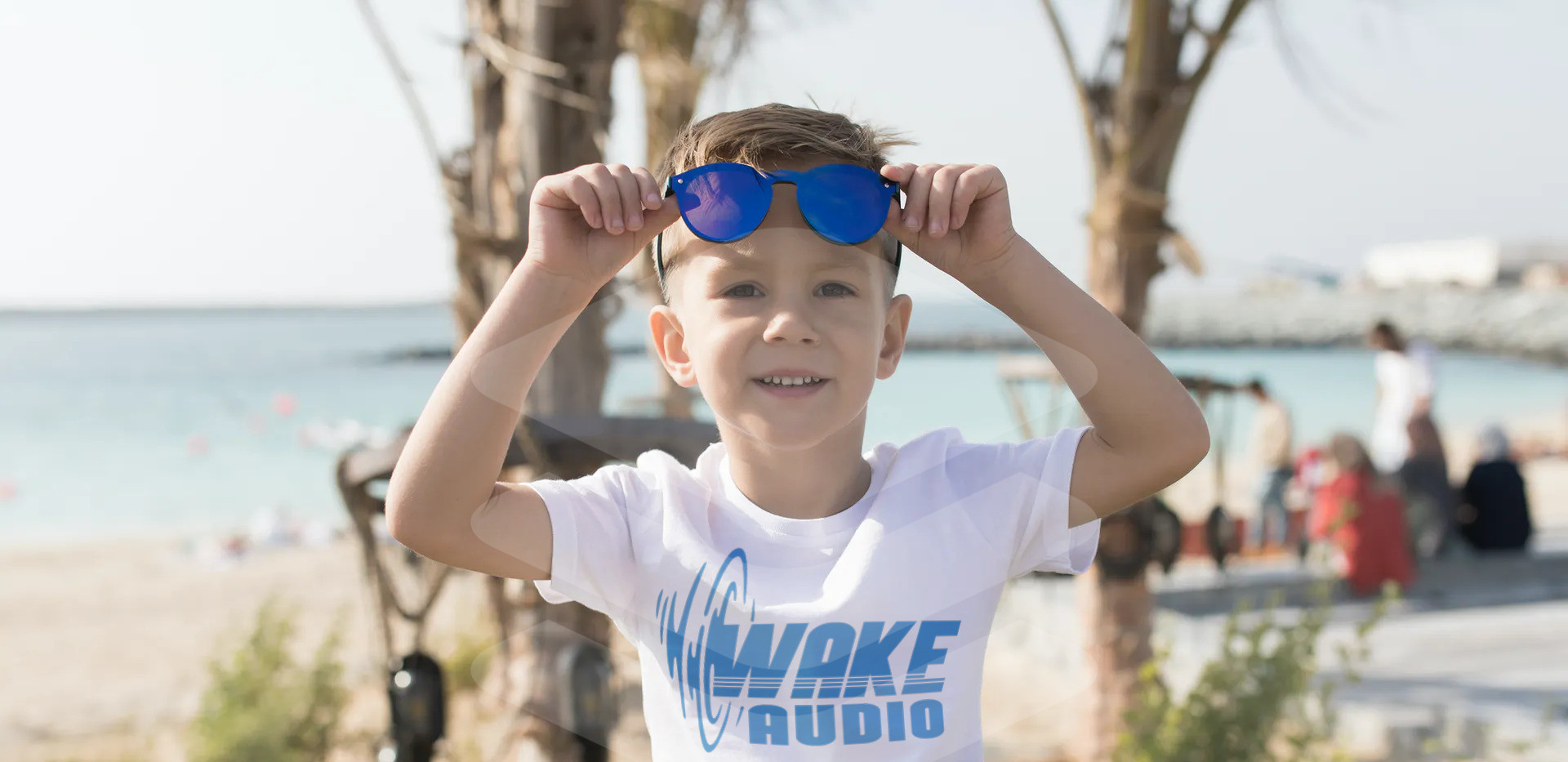 wake audio kids shirt