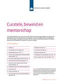 Brochure curatele, bewind en mentorschap
