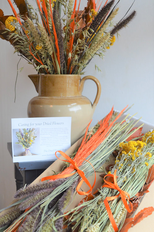 Dried & Wild Letterbox Flowers - Autumn