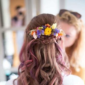 Vibarant Dried Flower Hair Comb