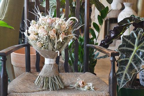 Pastel Dried Garden Rose Bouquet