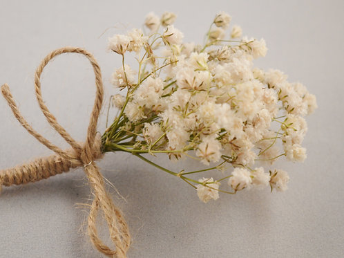 Gypsophila Dried Buttonhole