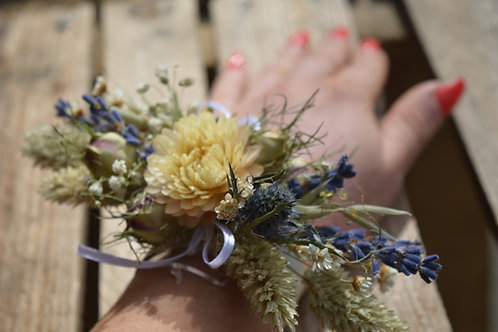 Dried Flower Wrist Corsage