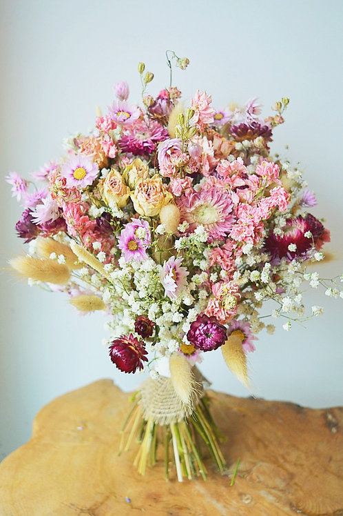 Gypsophila, Larkspur and Rose Bouquet