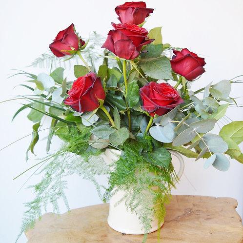 Vintage Red Rose Jug