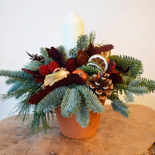 Eco Christmas Table Decoration #foamfree