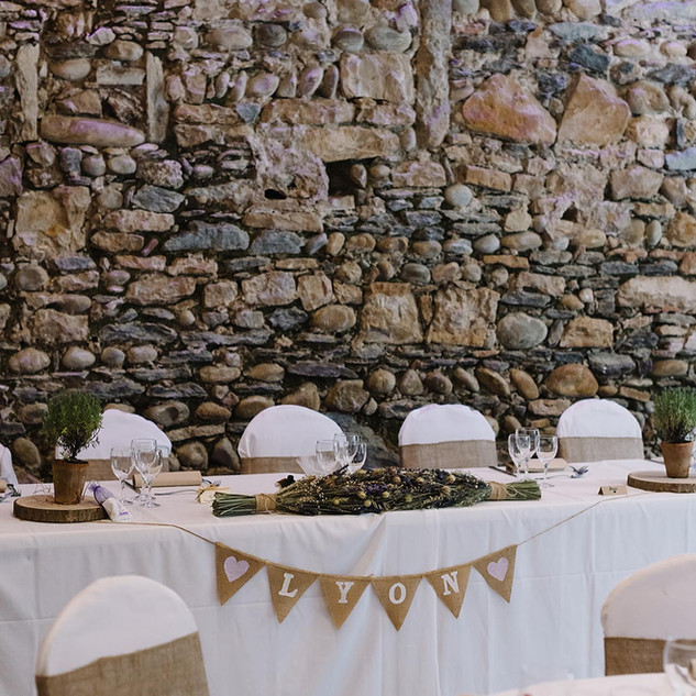 2020 French Wedding Venue with Dried lav