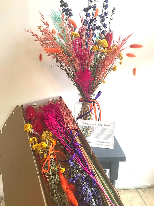 Vibrant Dried & Wild Letterbox Flowers