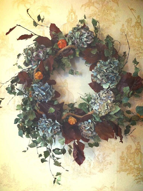 Rustic Dried Wreath Wall Hanging