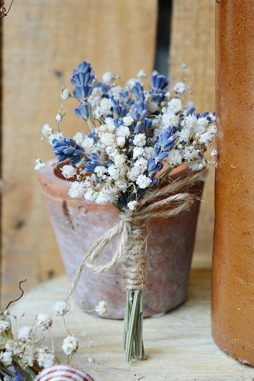 Gypsophila and Lavender Buttonhole