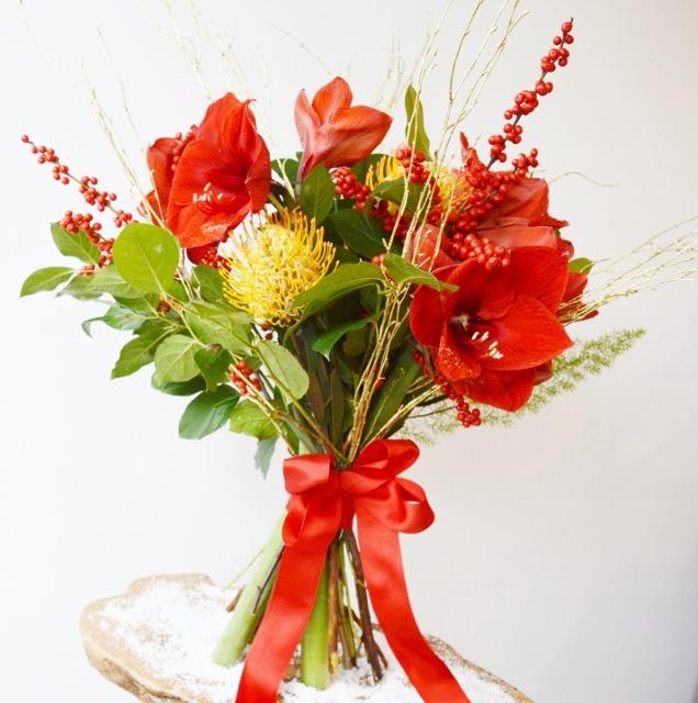 Christmas Amaryllis Bouquet